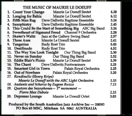 06_The Music of Maurie Le Doeuff_Back