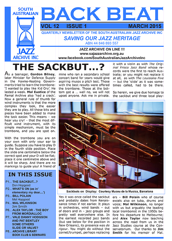 Back Beat Vol 12 Issue 1 March 2015 b-1