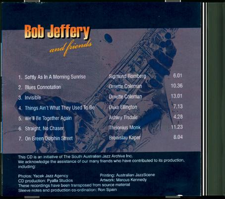 Bob Jeffery and friends Back