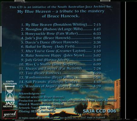 CCD 06 My Blue Heaven Back